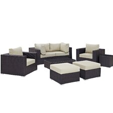 Convene 8 Piece Outdoor Patio Sectional Set with Cushions