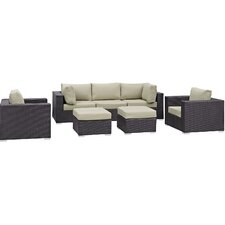 Convene 7 Piece Outdoor Patio Sectional Set with Cushions