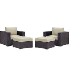 Comparison Convene 4 Piece Lounge Chair Set with Cushions