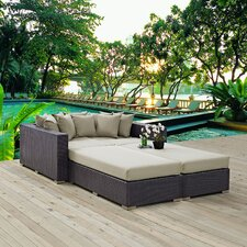 Convene 4 Piece Patio Daybed with Cushions