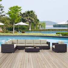 Great Reviews Convene Outdoor 7 Piece Patio Seating Group with Cushions
