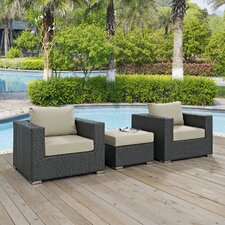 Sojourn 3 Piece Deep Seating Group with Cushion