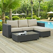 #2 Sojourn 3 Piece Deep Seating Group with Cushion
