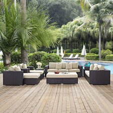 Herry Up Convene Outdoor 9 Piece Patio Seating Group with Cushions