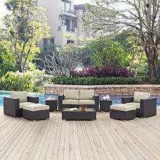 Convene Outdoor 8 Piece Patio Seating Group with Cushions
