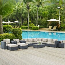 Sojourn 12 Piece Deep Seating Group with Cushion