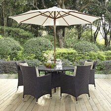 Convene 7 Piece Dining Set with Cushions