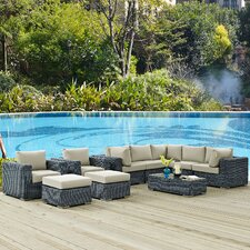 Amazing Summon 10 Piece Deep Seating Group with Cushion