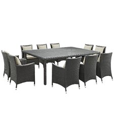 Sojourn 11 Piece Dinning Set with Cushions