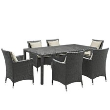 Sojourn 7 Piece Sunbrella Dinning Set with Cushions