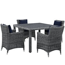 Summon 5 Piece Dinning Set with Cushions