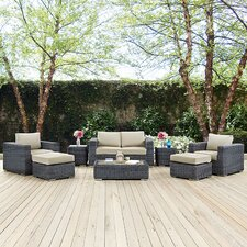 Summon 8 Piece Deep Seating Group with Cushion