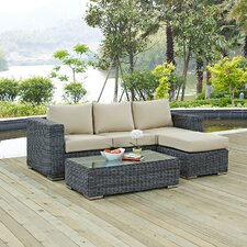 Summon 3 Piece Deep Seating Group with Cushion