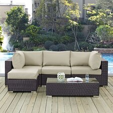 Convene 5 Piece Deep Seating Group with Cushion