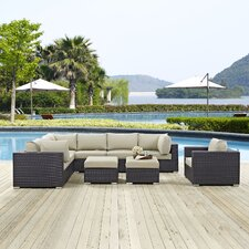 Best  Convene 9 Piece Outdoor Patio Sectional Set with Cushions