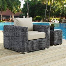 Summon Outdoor Patio Armchair with Cushion