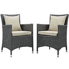 Sojourn Dining Arm Chair with Cushion (Set of 2)
