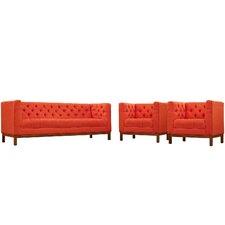 Panache 3 Piece Fabric Living Room Set