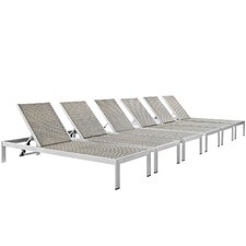 Shore Outdoor Patio Single Chaise (Set of 6)