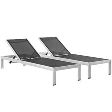 Shore Outdoor Patio Single Chaise (Set of 2)