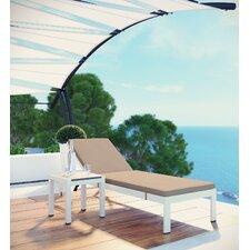 Find Shore Patio Chaise Lounge with Cushion