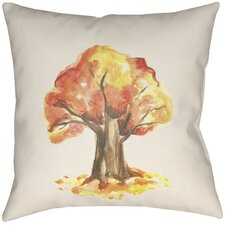 Lodge Cabin Tree Indoor/Outdoor Throw Pillow