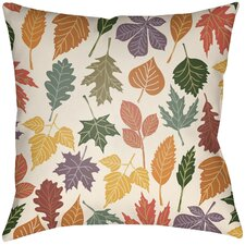 Lodge Cabin Foliage Indoor/Outdoor Throw Pillow