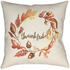 Lodge Cabin Thankful Indoor/Outdoor Throw Pillow