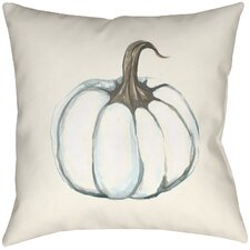 Lodge Cabin Pumpkin Indoor/Outdoor Throw Pillow