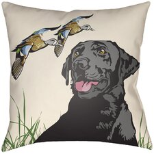 Lodge Cabin Hound Throw Pillow