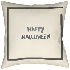 Lodge Cabin Halloween Throw Pillow