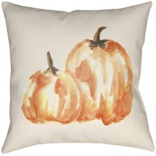 Lodge Cabin Pumpkin Spice Indoor/Outdoor Throw Pillow