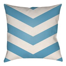 Lovely Litchfield Chevron Outdoor/Indoor Throw Pillow