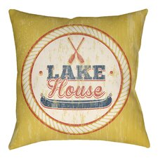 Litchfield Lake Indoor/Outdoor Throw Pillow