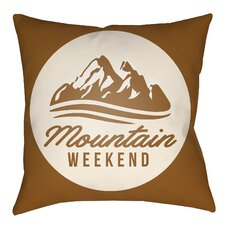 Lodge Cabin Alp Indoor/Outdoor Throw Pillow