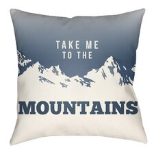 Lodge Cabin Mountain Indoor/Outdoor Throw Pillow