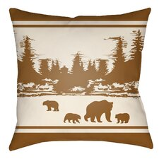 Lodge Cabin Woodland Indoor/Outdoor Throw Pillow