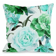 Read Reviews A Floral Afternoon Outdoor Throw Pillow