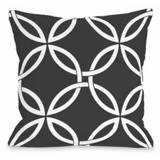 Interwoven Circles Outdoor Throw Pillow
