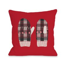 Plaid Mittens Throw Pillow