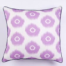 Vibrant Ikat Indoor/Outdoor Throw Pillow