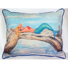 Great price Mermaid on a Log Outdoor Lumbar Pillow