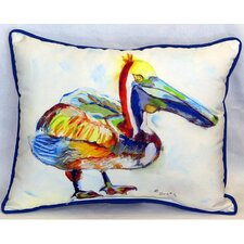 Heathcliff Pelican Indoor/Outdoor Lumbar Pillow