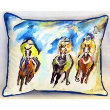Three Racing Indoor/Outdoor Lumbar Pillow