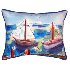 Purchase Two Sailboats Indoor/Outdoor Lumbar Pillow