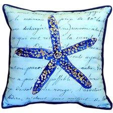 Starfish Indoor/Outdoor Euro Pillow