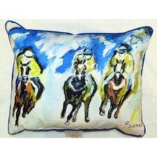 Three Racing Indoor/Outdoor Lumbar Pillow