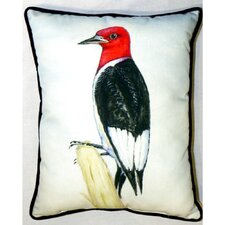 Redheaded Woodpecker Indoor/Outdoor Pillow