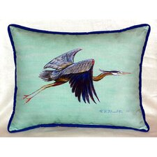 Flying Heron Indoor/Outdoor Lumbar Pillow