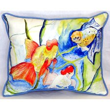 Fantails Indoor/Outdoor Lumbar Pillow
